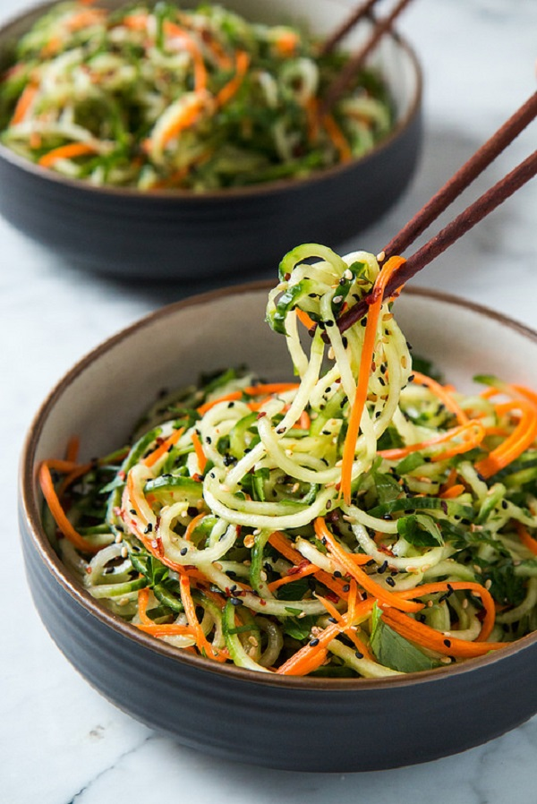 Asian Sesame Cucumber Salad - Quick, Easy and Healthy Salads For Ramadan