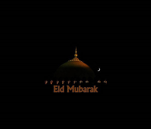 Black and Golden Eid ul Fitr Mubarak Wallpaper