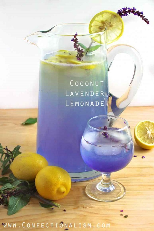 COCONUT LAVENDER LEMONADE - easy and quick drink recipe ramadan