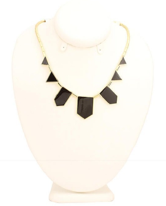 Copper Black Geometrical Pendant Necklace - Buy online Pakistan