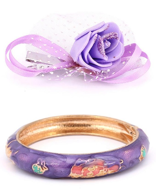 FISH Purple Bangle & Hair Clip for Girls - Buy online Pakistan