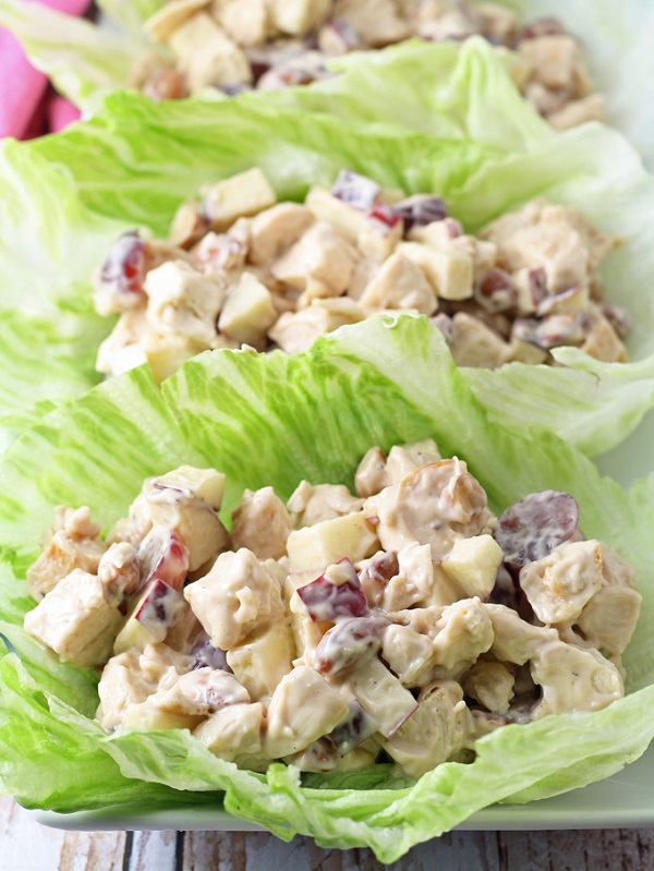 GRILLED CHICKEN SALAD LETTUCE WRAPS - Quick, Easy and Healthy Salads For Ramadan
