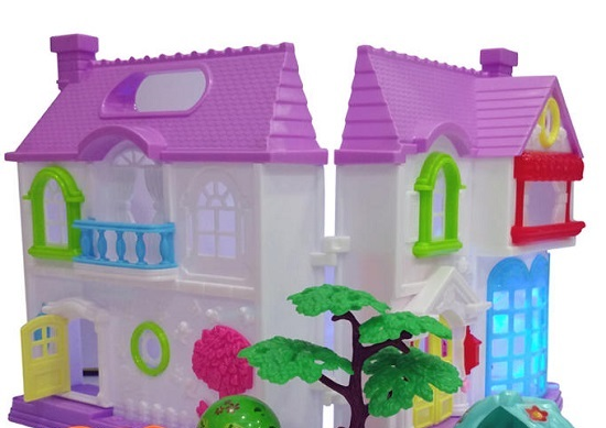 Kids Fashion & Toys Frozen Home Beautiful House with Pets & Garden - White - Buy online Pakistan