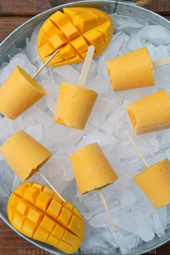 Mango yogurt popsicles Recipe