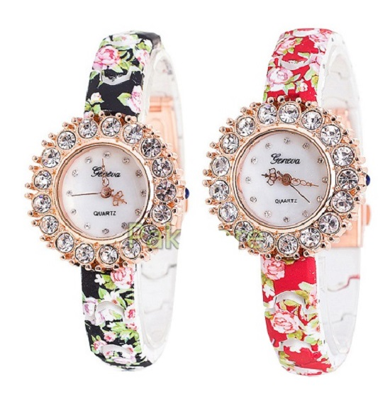 Pack of 2 Geneva Big Stone Ladies Watches - Buy online Pakistan