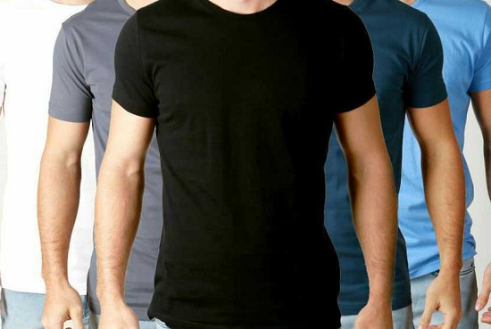 Pack of 5 Round Neck Half Sleeves T-shirts for Him
