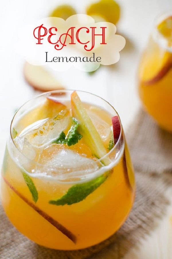 Peach Flavored Perfect Lemonade - easy and quick drink recipe ramadan