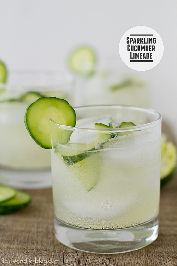 SPARKLING CUCUMBER LIMEADE - easy and quick drink recipe ramadan