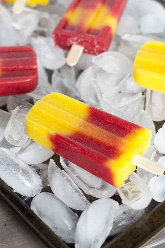 Strawberry Mango Popsicles Recipe