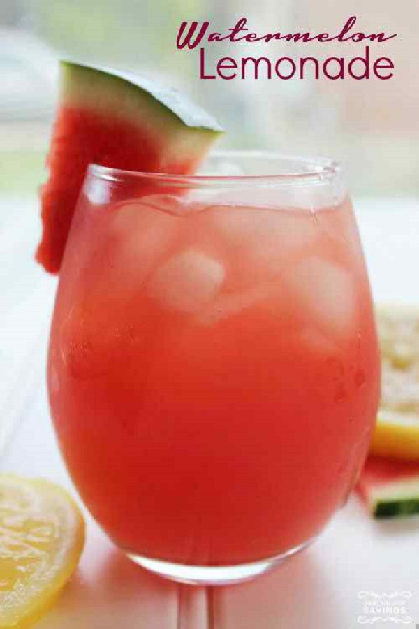 Watermelon Lemonade - easy and quick drink recipe ramadan