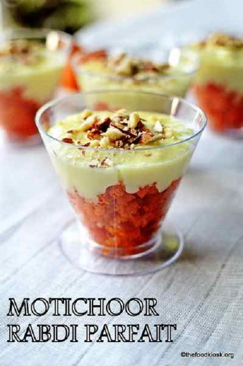 Motichoor Rabdi Parfait, how to make motichoor rabdi parfait