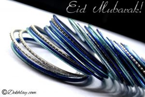 Blue Bangles Happy Eid Mubarak Picture Wallpaper