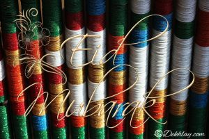Colorful Bangles Happy Eid Mubarak Picture Wallpaper