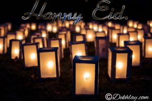 Lanterns Lights Happy Eid Mubarak Picture Wallpaper