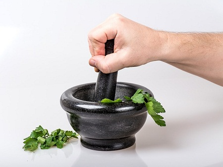mortar and pestle for herbs
