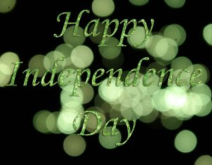 Green Glitter Happy Independence Day HD Wallpaper