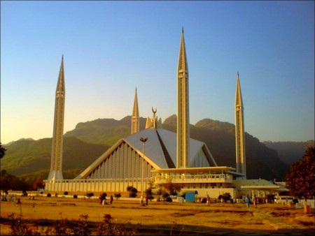 Shah Faisal Mosque Islamabad Pakistan Wallpaper