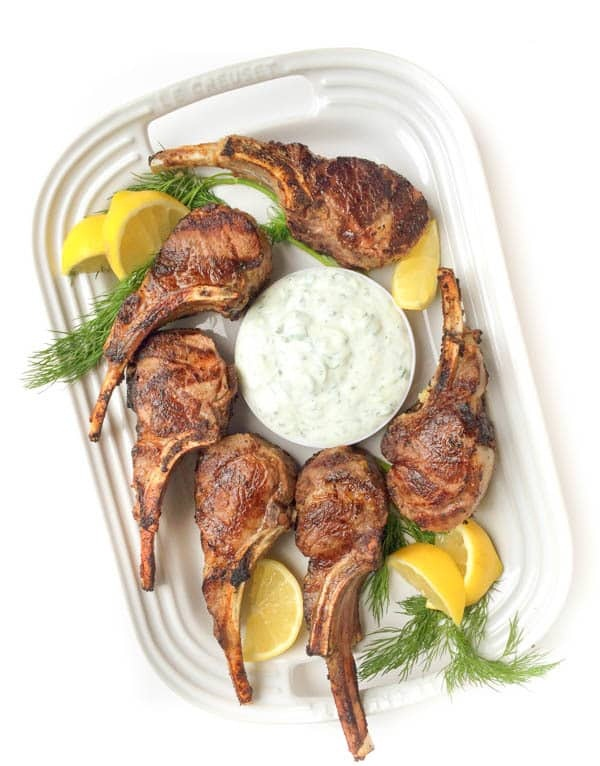 GREEK LAMB CHOPS WITH TZATZIKI SAUCE