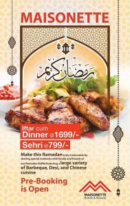Masonate Roof Top Lahore Ramzan Sehri Menu 2018