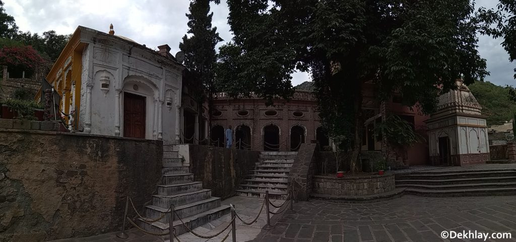 A panorama of the picture gallery, Hindu temple and Sikh Gurdawara in Saidpur village Islamabad